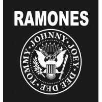 RAMONES (logo z orzełkiem, szary nadruk) T-shirt