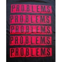 P.R.O.B.L.E.M.S. - logo (problems) T-shirt (czarna)