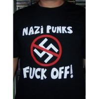 Nazipunks fuck off -  T-shirt