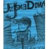 "UZ JSME DOMA ""Jeskyne"" (niebieska, damska XL – black print) T-shirt"