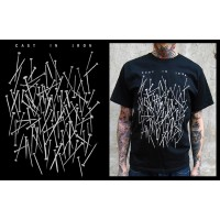 CAST IN IRON (nails, czarna) T-shirt