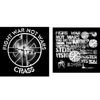 "CRASS ""Fight war not wars"" (cross) T-shirt"