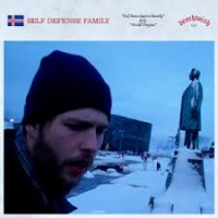 "SELF DEFENSE FAMILY ""Self Immolation Family b/w World Virgins"" (transparent red vinyl) 7""EP"
