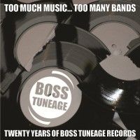 "v/a ""Too Much Music... Too Many Bands. 20 Years of Boss Tuneage Records."" 4xCD"
