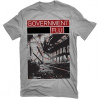 "GOVERNMENT FLU ""Fluff 2013"" (grey) T-shirt"